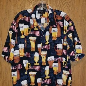 C&B sports. By Croft and Barrow. Beer shirt.